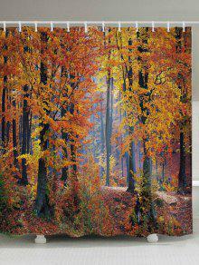 القيقب الغابات طباعة النسيج حمام دش الستار - أشجار الحمضيات W71 بوصة * L79 بوصة