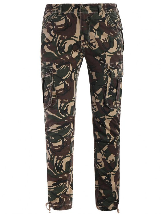 affordable Camo Print Pants - ACU CAMOUFLAGE 3XL