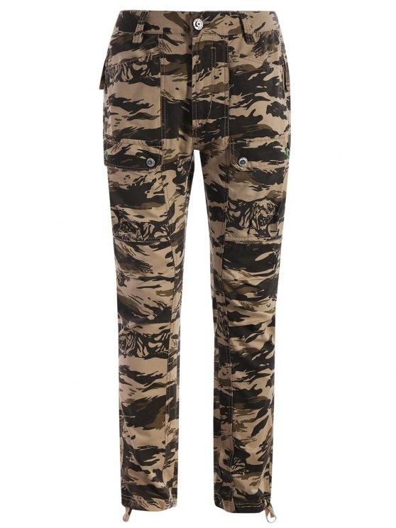fashion Pockets Camo Pants - ACU CAMOUFLAGE XL
