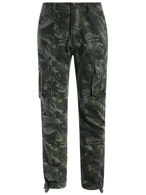 shops Flap Pockets Camo Pants - ACU CAMOUFLAGE S