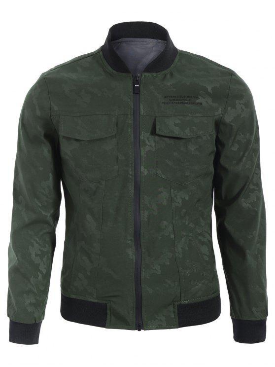 hot Camo Bomber Jacket - ARMY GREEN 2XL