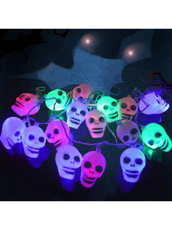 الجمجمة شكل هالوين حزب ليد سلسلة الأنوار - ملون