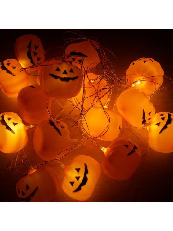 16 مصباح قطع ليد هالوين اليقطين شنقا سلسلة الأنوار - أحمر برتقالي