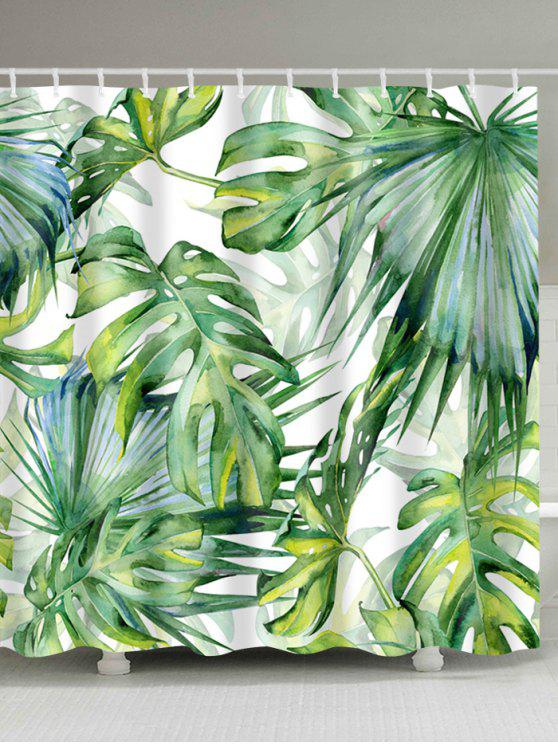 Outfit Watercolor Fern Plants Shower Curtain With Hooks