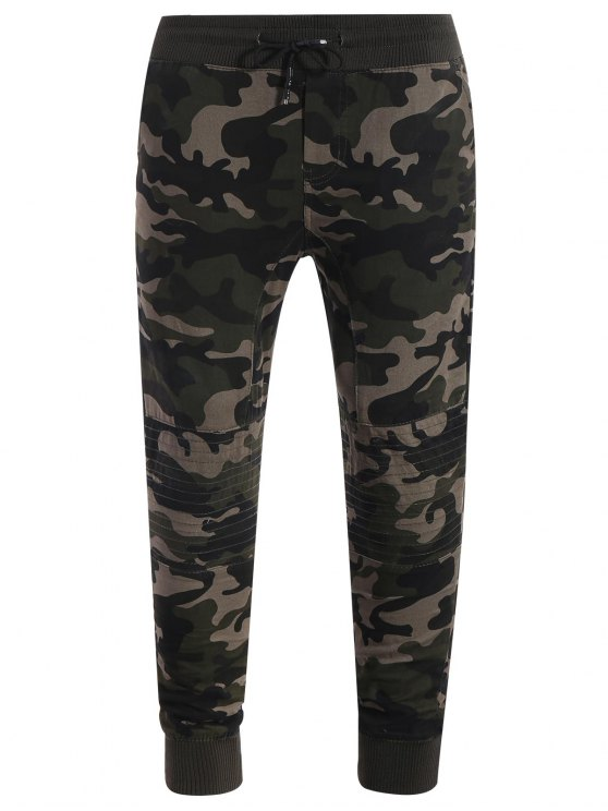 d7cf9ea318ec12 26% OFF] 2019 Camo Jogger Pants In KHAKI | ZAFUL