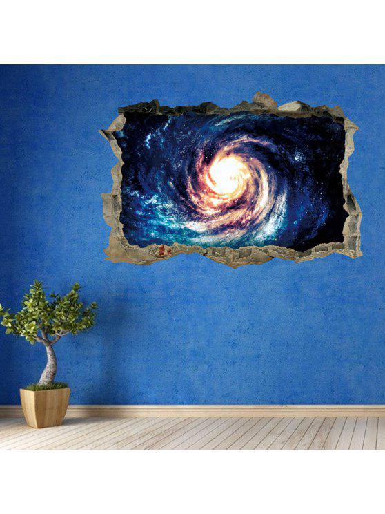 غالاكسي دوامة 3D كسر جدار الفن ملصق - أزرق 45 * 60CM
