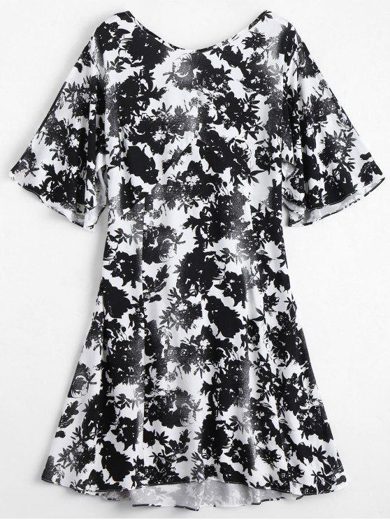 Robe Imprimée Florale à Dos Ouvert - Floral S