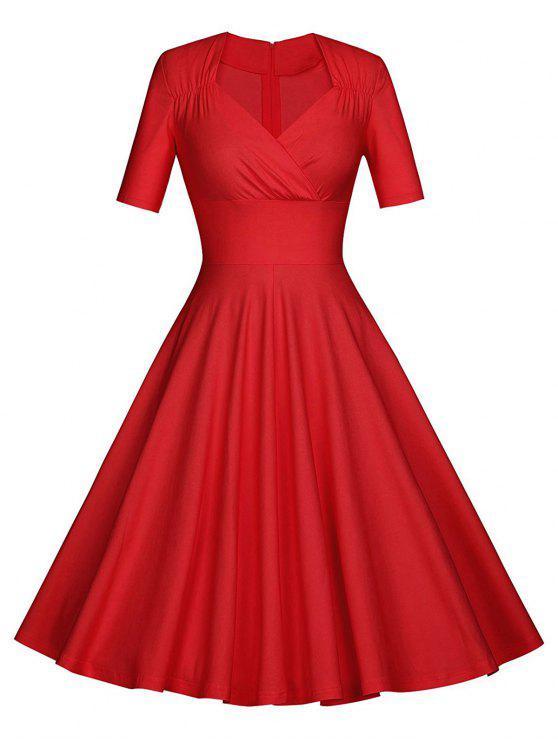 فستان الحفلة كلاسيكي - أحمر XL