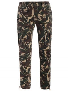 Camo Print Pants - Acu Camouflage M