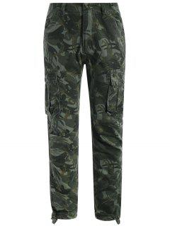 Flap Pockets Camo Pants - Acu Camouflage M