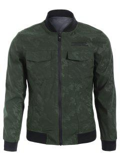 Camo Bomber Jacket - Army Green Xl