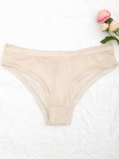 Sheer Mesh Panties - Light Apricot L