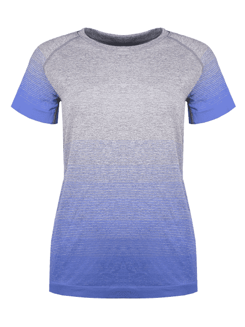 outfits Gradient Color Stretchy T-Shirt -   Mobile