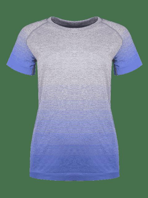 shops Gradient Color Stretchy T-Shirt -   Mobile