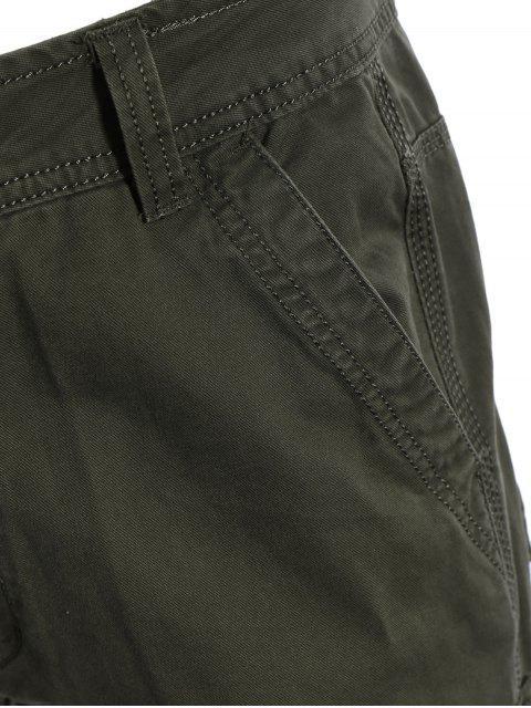 hot Flap Pockets Pants - ARMY GREEN XL Mobile