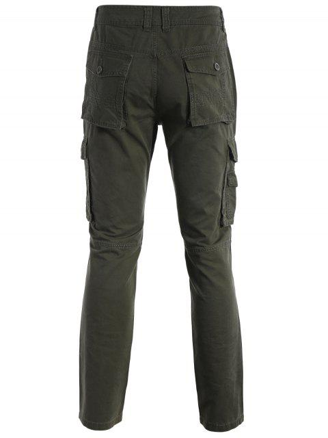 outfits Flap Pockets Pants - ARMY GREEN M Mobile