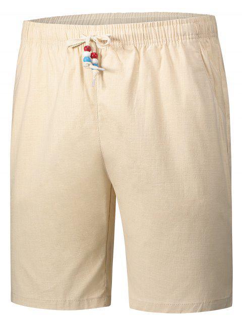 shops Drawstring Beaded Bermuda Shorts - PALOMINO 5XL Mobile