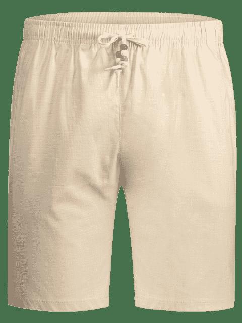 latest Drawstring Beaded Bermuda Shorts - PALOMINO 4XL Mobile