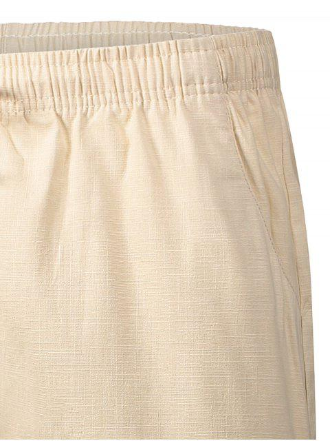 fashion Drawstring Beaded Bermuda Shorts - PALOMINO 2XL Mobile