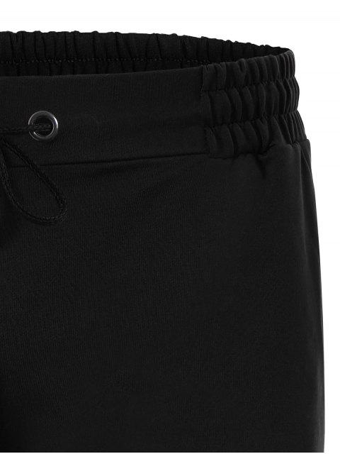 women's Side Pocket Drawstring Men Bermuda Shorts - BLACK 4XL Mobile