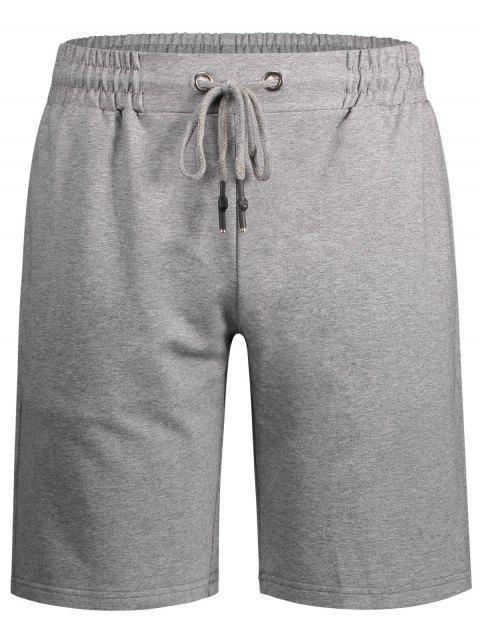 chic Side Pocket Drawstring Men Bermuda Shorts - GRAY L Mobile