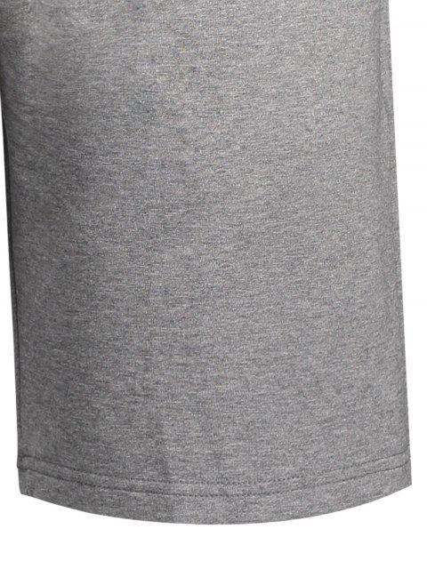 unique Side Pocket Drawstring Men Bermuda Shorts - GRAY M Mobile