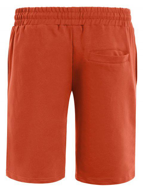 best Side Pocket Drawstring Men Bermuda Shorts - ORANGE XL Mobile
