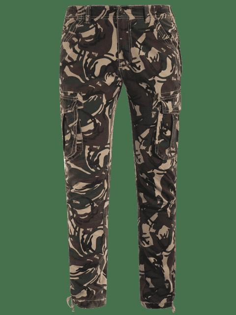 online Camo Print Pants - ACU CAMOUFLAGE M Mobile
