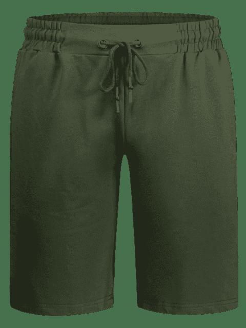 outfits Side Pocket Drawstring Men Bermuda Shorts - ARMY GREEN 4XL Mobile