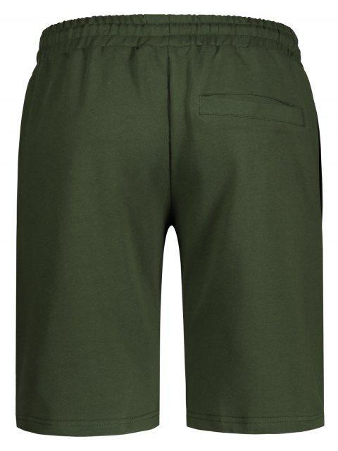 shops Side Pocket Drawstring Men Bermuda Shorts - ARMY GREEN 3XL Mobile