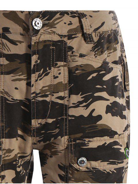fashion Pockets Camo Pants - ACU CAMOUFLAGE XL Mobile