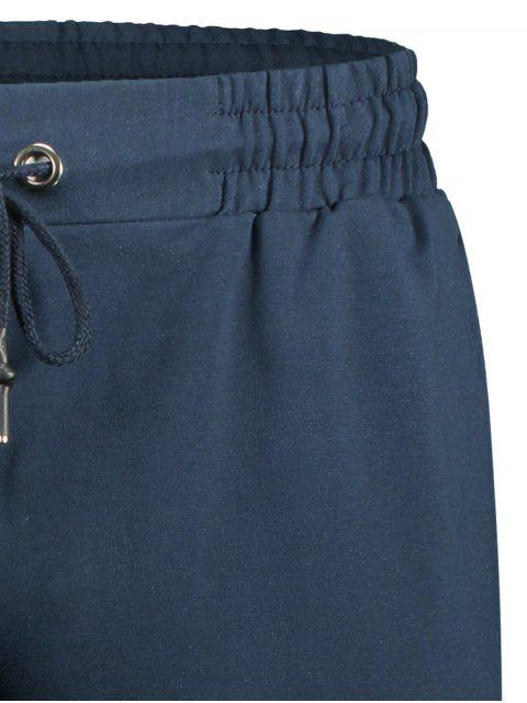buy Side Pocket Drawstring Men Bermuda Shorts - CADETBLUE 4XL Mobile