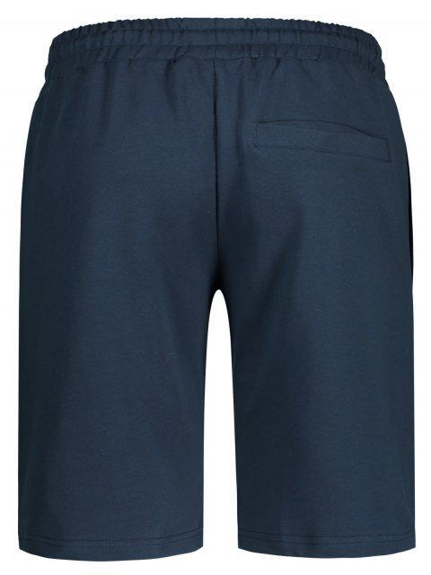 women Side Pocket Drawstring Men Bermuda Shorts - CADETBLUE 3XL Mobile