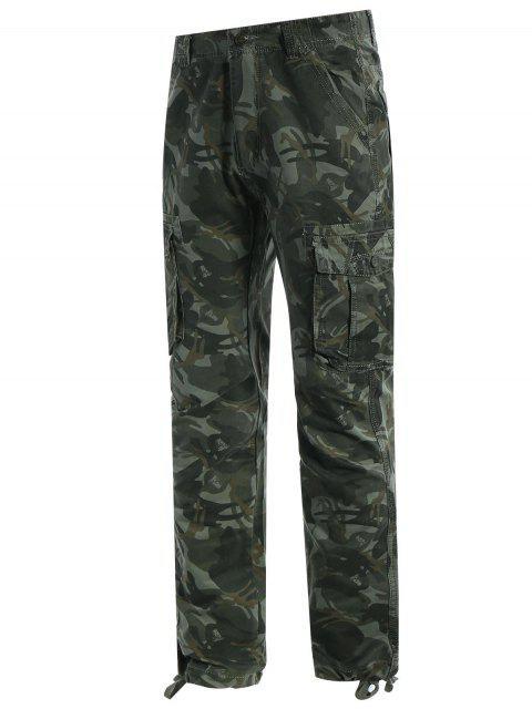 lady Flap Pockets Camo Pants - ACU CAMOUFLAGE 2XL Mobile