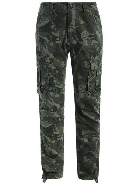online Flap Pockets Camo Pants - ACU CAMOUFLAGE XL Mobile