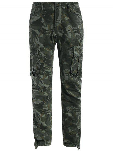 outfits Flap Pockets Camo Pants - ACU CAMOUFLAGE M Mobile