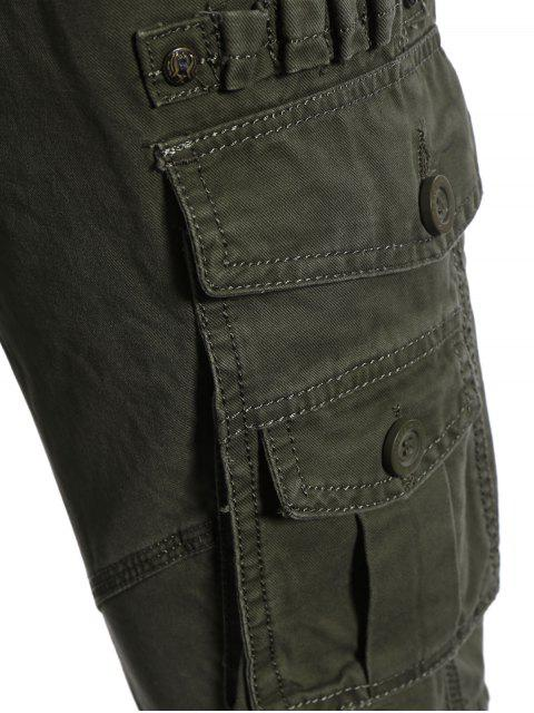 trendy Flap Pockets Pants - ARMY GREEN 3XL Mobile