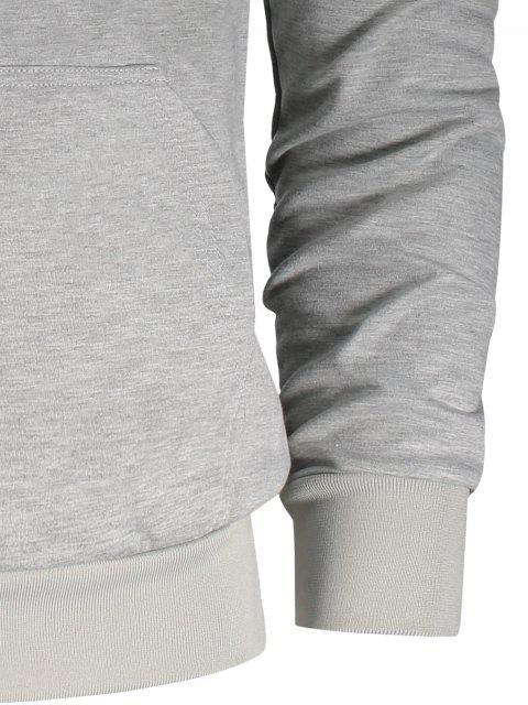 Pochette à manches à cordes Zip Zip Hoodie - Gris 2XL Mobile