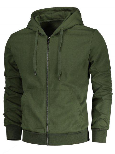 Pochette à manches à cordes Zip Zip Hoodie - Vert Armée 3XL Mobile
