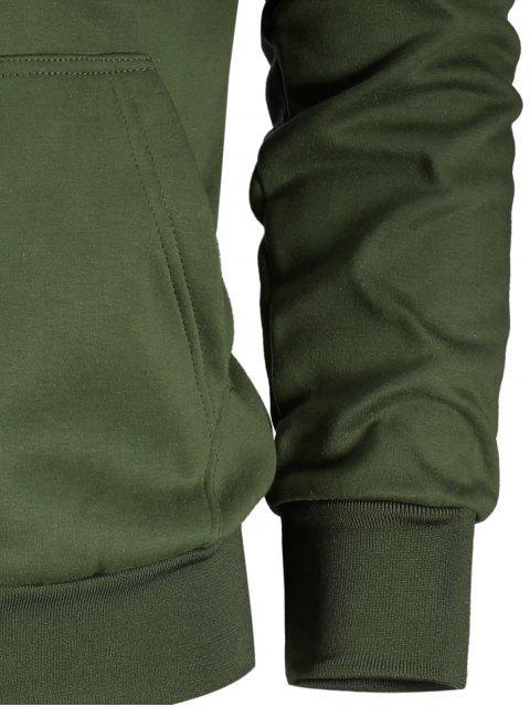 Pochette à manches à cordes Zip Zip Hoodie - Vert Armée L Mobile