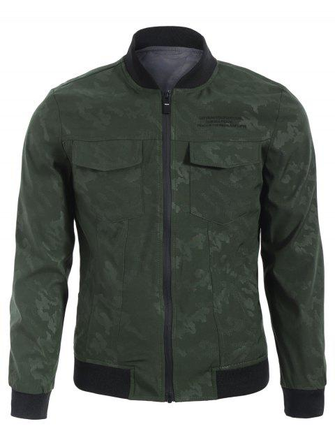 new Camo Bomber Jacket - ARMY GREEN 3XL Mobile