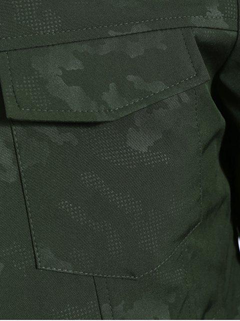 hot Camo Bomber Jacket - ARMY GREEN 2XL Mobile