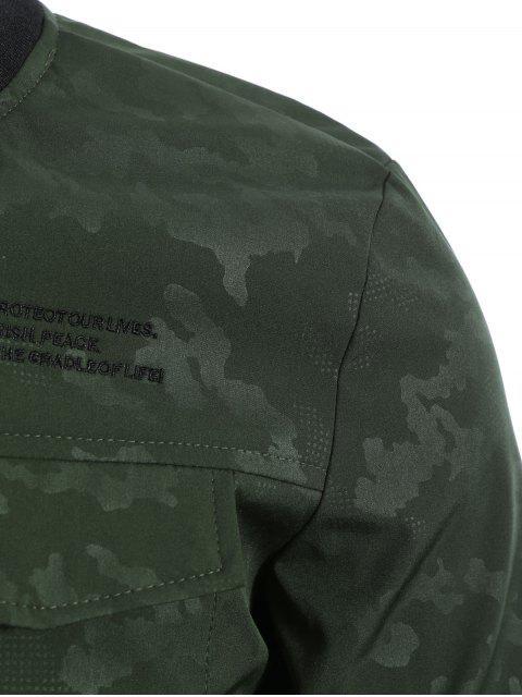 Camo Bomber Jacket - Vert Armée L Mobile