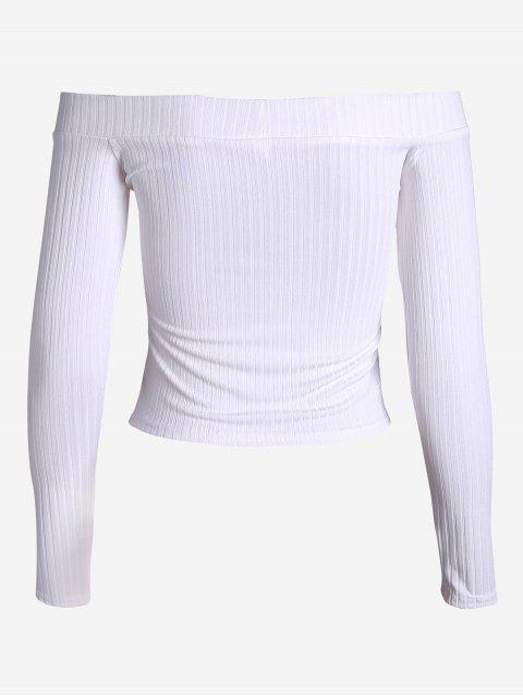 Top à épaulettes côtelées - Blanc S Mobile