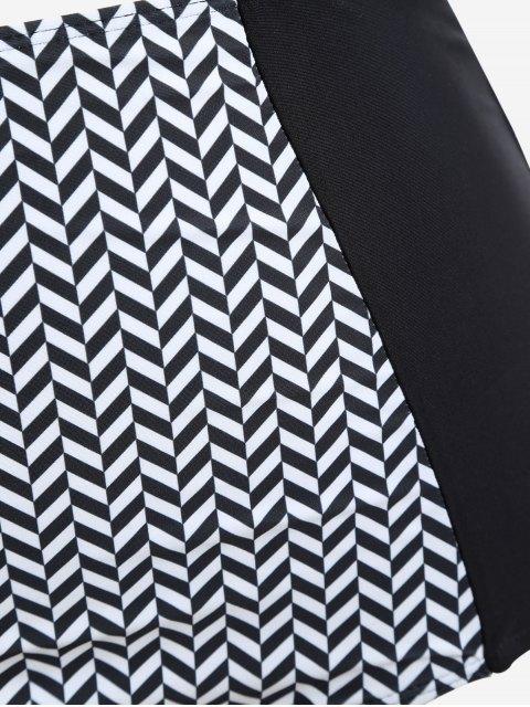 Ensemble de bikini en mousseline de soie - Blanc et Noir XL Mobile