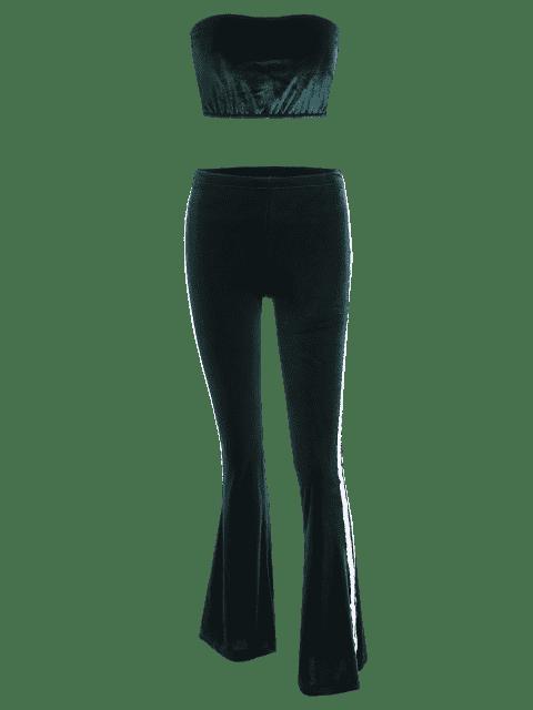 Tissu en velours et rayures - Vert Foncé S Mobile