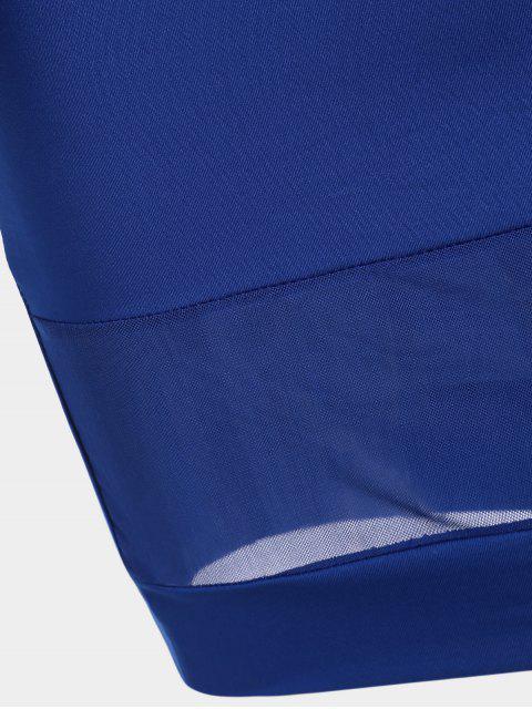 Robe Bodycon - Bleu L Mobile