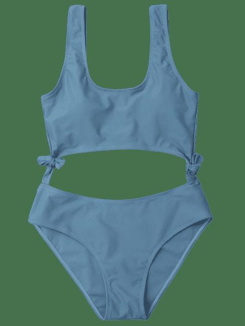 Maillot de bain Bowknot - Gris Bleuté XL Mobile