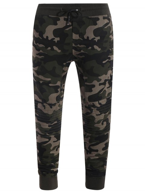 trendy Camo Jogger Pants - KHAKI 2XL Mobile