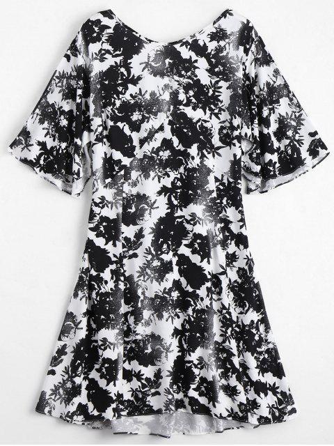 Robe Imprimée Florale à Dos Ouvert - Floral S Mobile